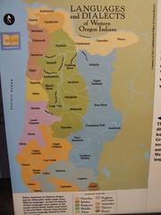 Language Distribution of Oregon Natives