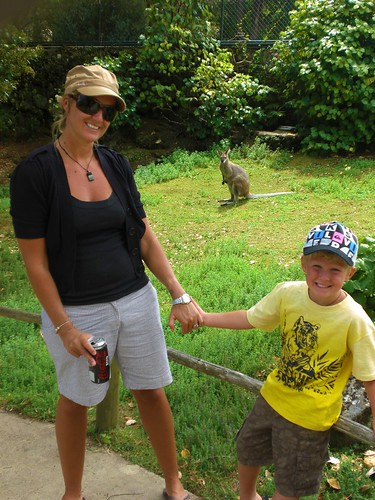 Ethan & I and a Marsupial
