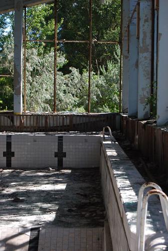 Pool in Prypiat - Copyright Roser Martínez