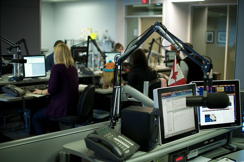 Inside the News 1130 Newsroom