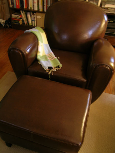 My new leather chair
