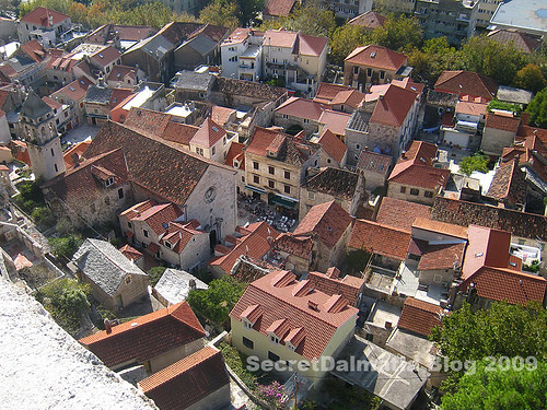The view f Omis town from Mirabella fortress