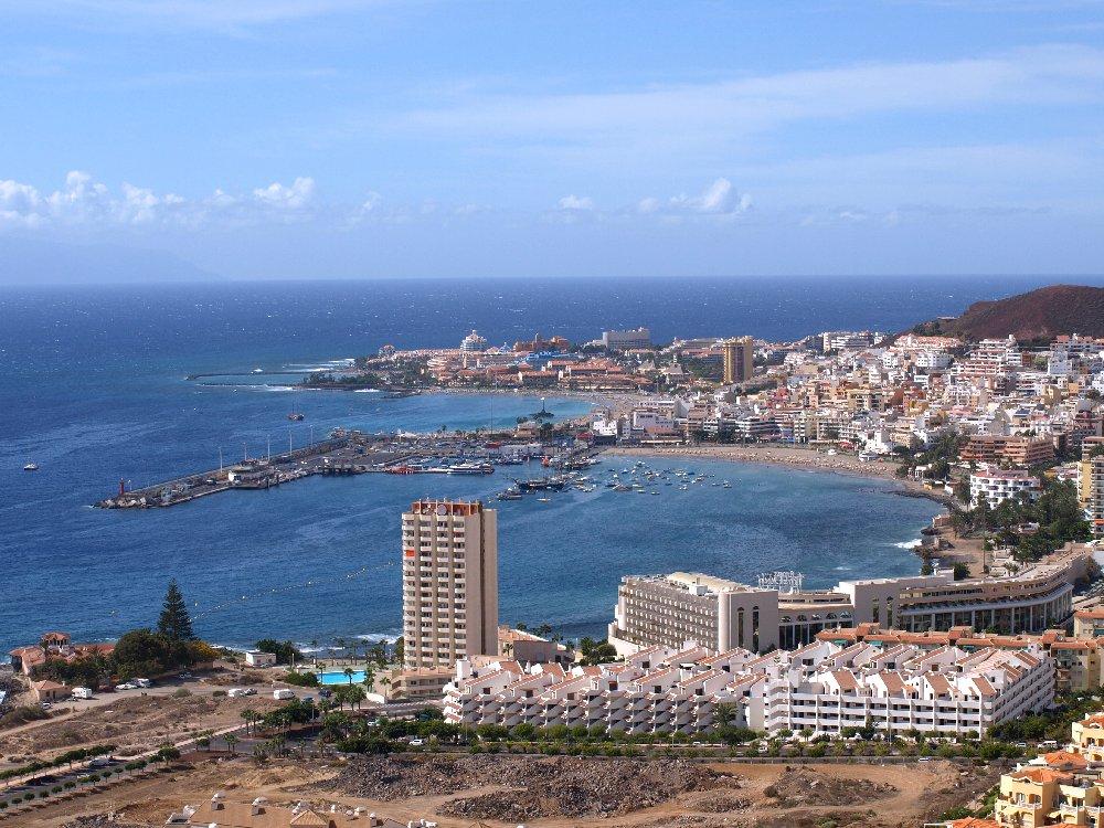 View of Los Cristianos from Montaña Guaza
