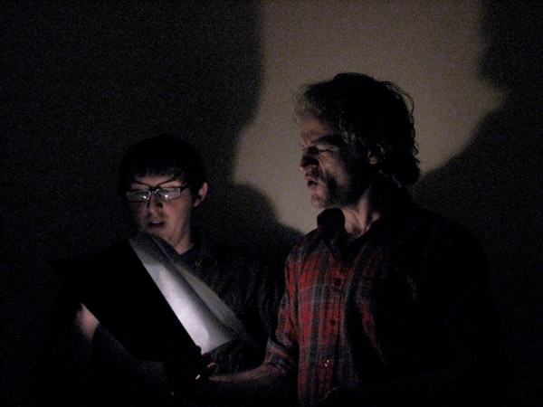 Collin and Thomas in flashlight 2