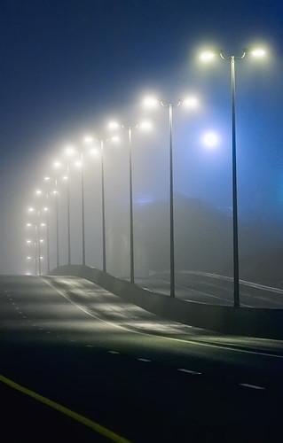 quiet foggy night