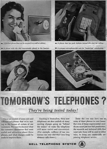 Vintage Ad #954: Tomorrow's Telephones?