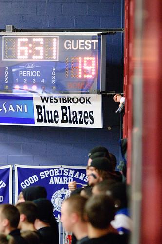 Westbrook Blue Blazes Scoreboard