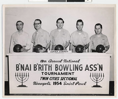 Lucky Strike bowlers from the B'nai B'rith Bow...