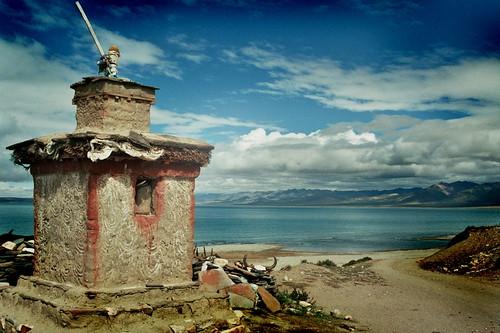 берег озера Манасаровар.Tibet, archives, film, 2005,_25_00028