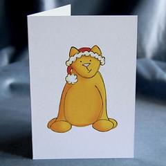 xmas card - christmas cat