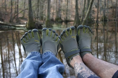 35th Birthday Hike - Vibram Five Fingers (by Ryan Somma)