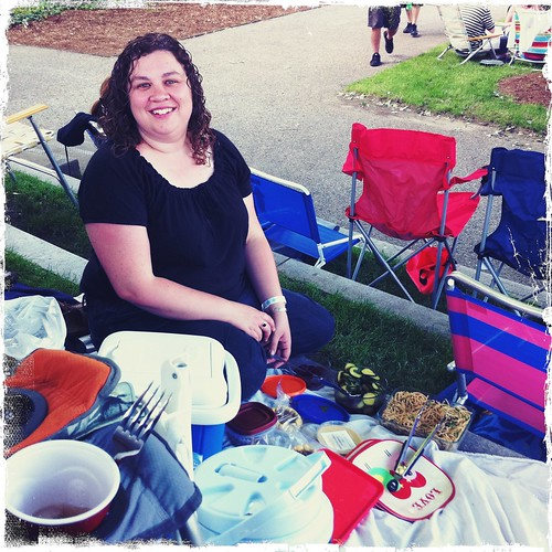 Picnicking at the Chris Isaak show at Boardinghouse Park