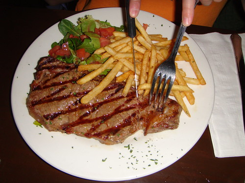 Time Cafe - Sirloin Steak with Fries and Salad