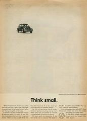 "1960 Volkswagen ""Think small."""