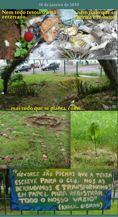 Ação de Jardinagem Curitiba Janeiro 2010