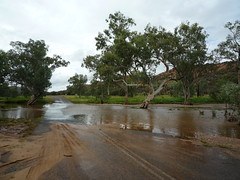 Flooded highway, West MacDonnell Ranges