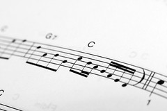 C scale notation over musical staff