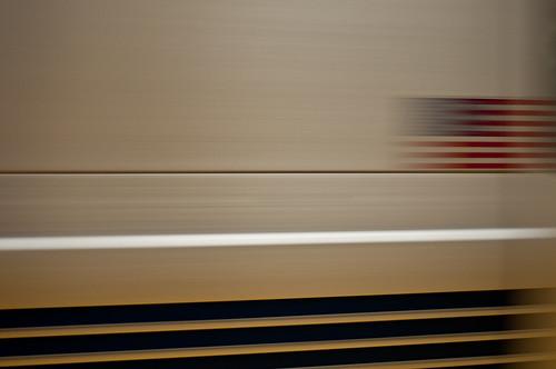 BART train speeding by in San Francisco