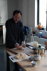 Zhang Laoshi making noodles