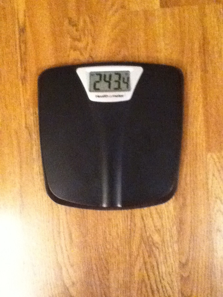 Week 8 weigh in
