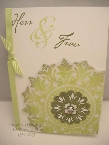 Hochzeitskarte Transparentkarton
