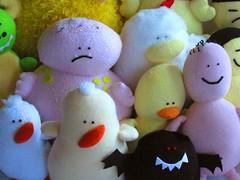 Plush dolls by Clara Lieu