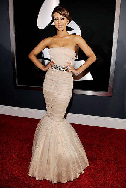 Singer Keri Hilson arrives at the 52nd Annual GRAMMY Awards held