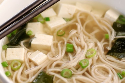 miso soup with soba