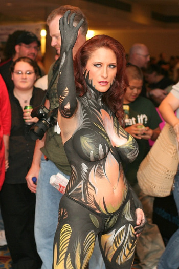 Body-painted Witchblade