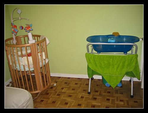 Minicuna y bañera