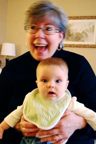 A very happy grandma.