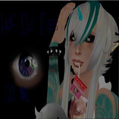 Turquoise Unicorn - Half Cut Eyes