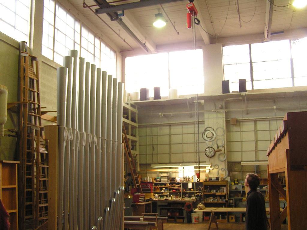A room for assembling organs, Austin Organs