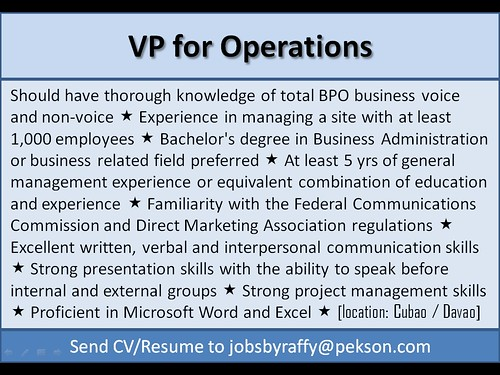 VP for Operations