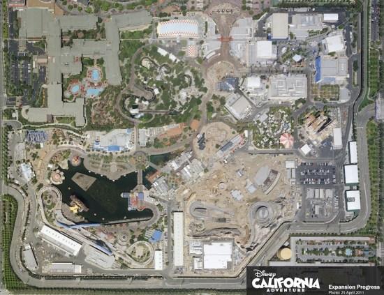 Aerial Image of Disney California Adventure Park