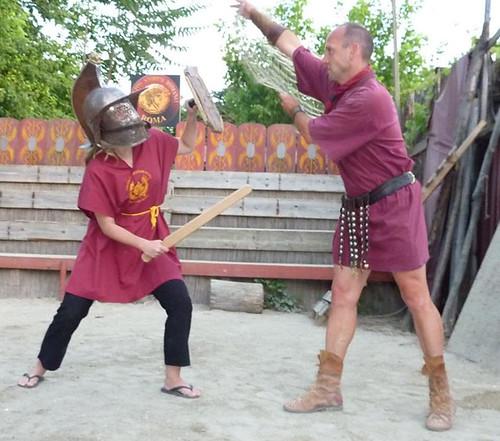 gladiator training
