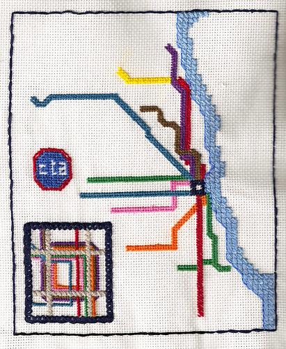 Chicago El Map