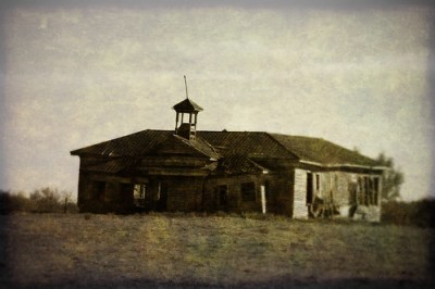 Old Shiloh School Textured 2