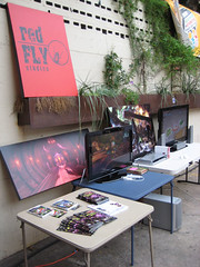 Red Fly's setup at Game On Austin