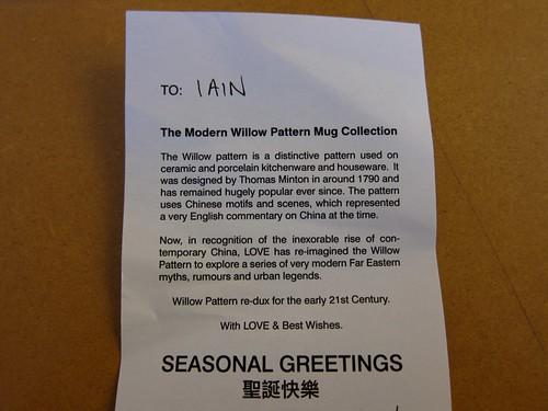 Aaaah, Willow Pattern Mugs - How Nice
