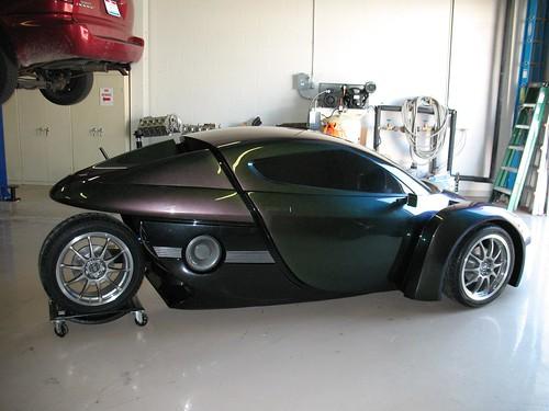 3-wheeled ZAP electric car prototype