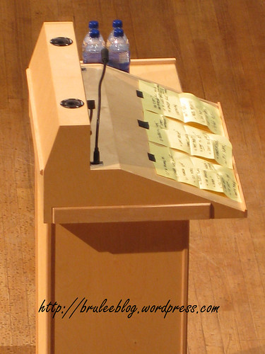 Anthony Bourdain's podium notes