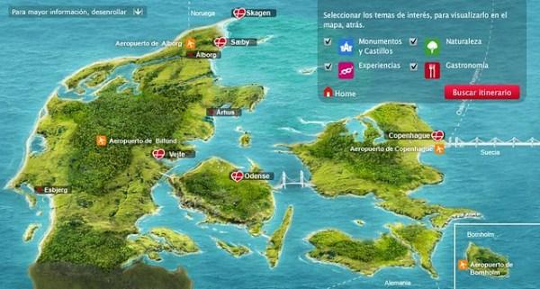 Mapa chulo de VisitDenmark