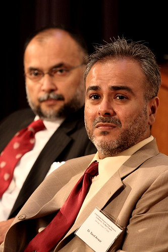 Dr. Saud Anwar wtih Mr. Ashan Iqbal behind