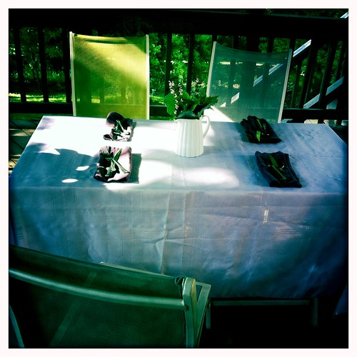 mothers day table on the deck