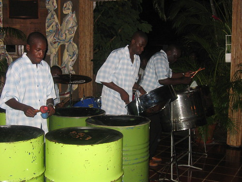 Steel pan band in Tobago