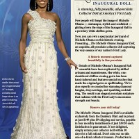 Michelle Obama Inaugural Doll from the Danbury Mint