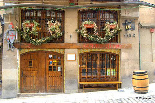 Hostería del Temple, en la calle Curia de Pamplona