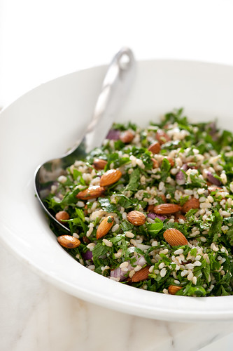 brown rice & almond tabouleh