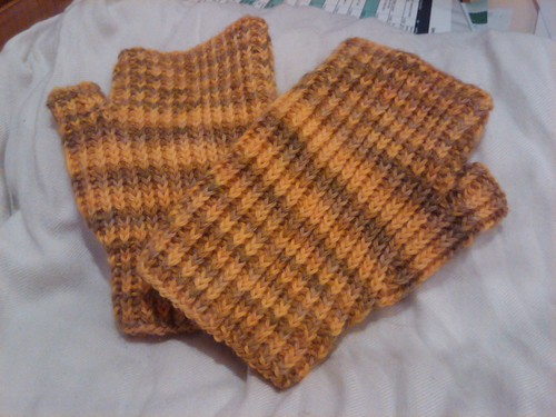 Yellow mitts back